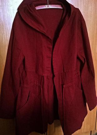 Весняна легенька курточка, плащ, парка винного кольору
