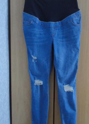 Супер новые брендовые  джинсы джеггинсы скинни для беременных new look