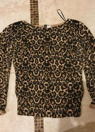 Леопардовый свитер h&m