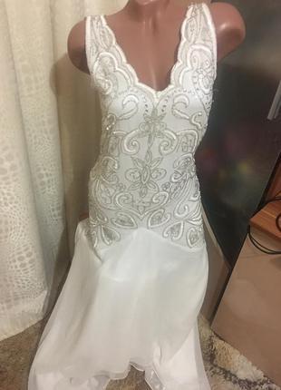 Шикарное свадебное фирменное платье frock and frill от asos