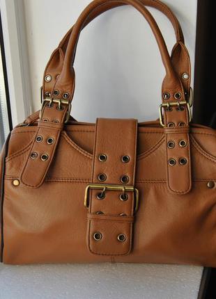 Кожаная сумка tommy & kate / шкіряна сумка