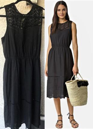 Платье *cupcakes & cashmere*usa из 100%хл с кружевной кокеткой и вышитым подолом