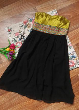 Платье с вышивкой (атлас шифон бисер)