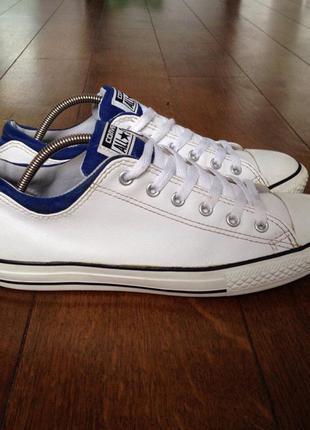 Кеды белые converse (оригинал) кожа р. 38.5., 24 см.