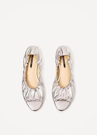 Изящные балетки zara с открытым носком