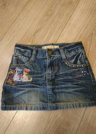 Стильна джинсова юбка на 2 р