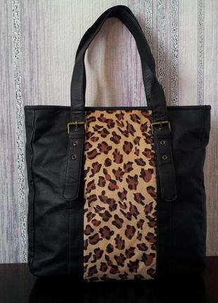 Вместительная сумка бренда f&f. шоппер