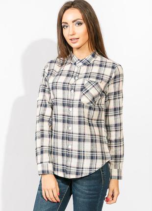 Рубашка женская в клеточку м-размер