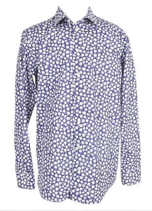 Мужская рубашка с цветочным принтом