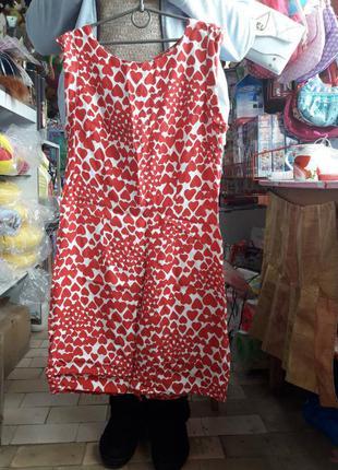 Шикарное елегантное платье белое с красным красное 42размер