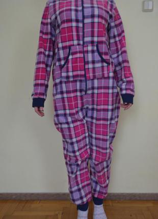 Теплый флисовый человечек пижама кигуруми домашняя одежда