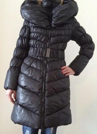 Новое!!! утеплённое пальтишко с высоким воротом!
