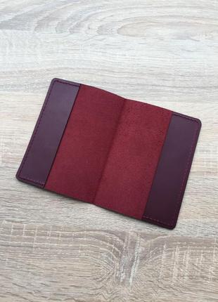Обкладинка на паспорт з натуральної шкіри, hand made;обложка на паспорт