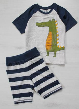 Пижама next на 3-4 года (98-104см) с крокодилом