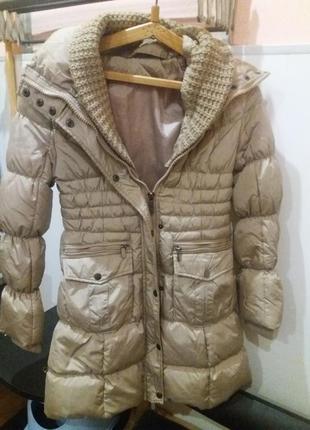 Теплейшая зимняя плащ- куртка
