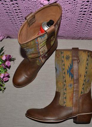 Р. 39 - 25 см. spm сапоги с орнаментам этно-стиль казачки фирменные, оригинал.