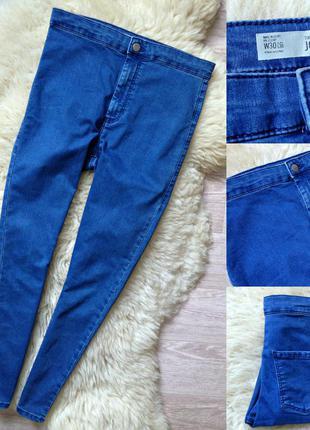 #184 джинсы скинни высокой посадки topshop moto joni