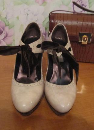 Нюдовые туфли, натуральная кожа