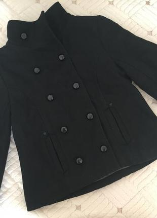 Пальто плащ френч чёрное женское ecko unltd