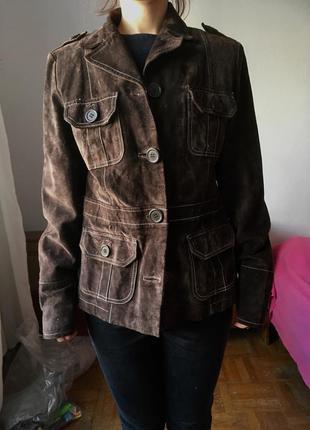 Замшевая куртка/пиджак amisu