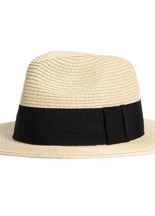 Соломенная шляпа канотье h&m