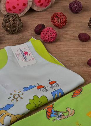 Детская пижама унисекс - размер 110-116