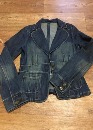 Джинсовые красивый пиджак