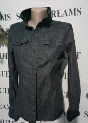 **only** джинсовая рубашка uk 8-10