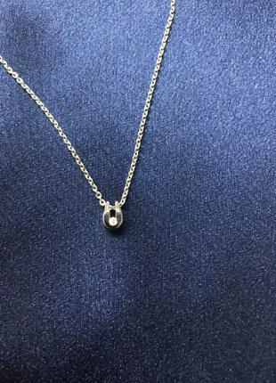 Цепочка из белого золота с бриллиантом