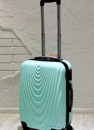 🔥качество! мятный маленький чемодан для ручной клади из поликарбоната валіза