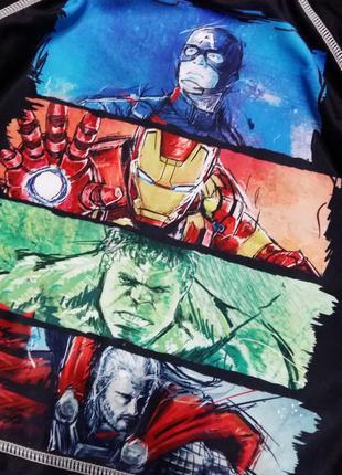 Marvel футболка пляжная  3-4г 104см солнцезащитная купальный костюм для плавания