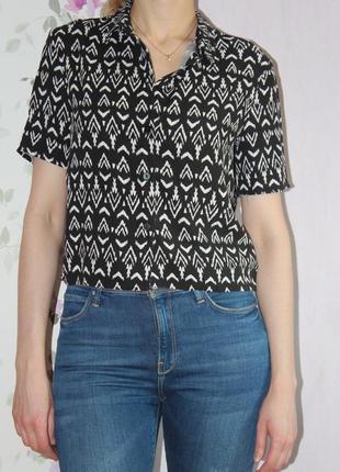 Короткая рубашка от h&m
