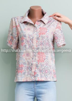Большой выбор блуз - нежная легкая блуза, рубашка оверсайз красивой расцветки