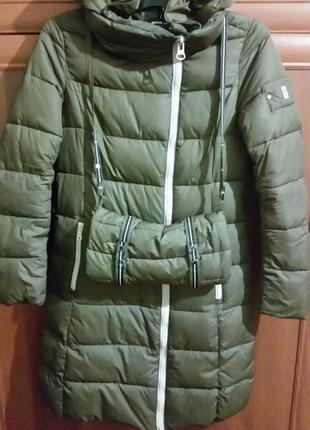Пальто зимнее стеганое