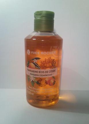 Тонизирующий гель для ванны и душа мандарин - кедр ив роше