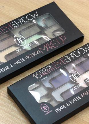 """Тени набор 16цветные palette eyeshadow """"tf"""""""