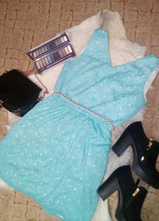 Милый бирюзовый сарафан reserved платье