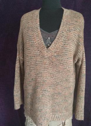 Ytssica. капсульный красивый  пуловер - лего, меланж и мелкие поедки добавят яркости