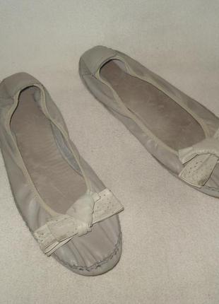 42 р./27 cм. брендовые кожаные балетки bama