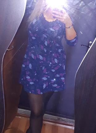 Теплое красивое платье с кружевом