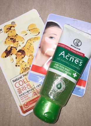 Спасение от прыщей, acnes гель 100 мл из японии + подарок маска корея
