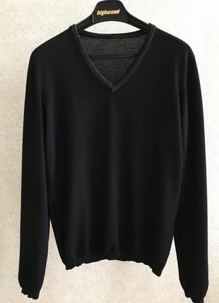Тонкий шерстяной свитер 100% шересть