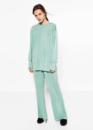 Костюм в пижамном стиле zara,p.m-l