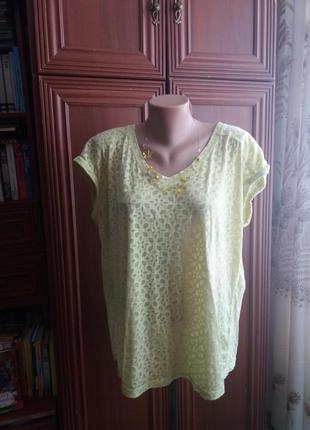 Лимонная симпатичная футболка