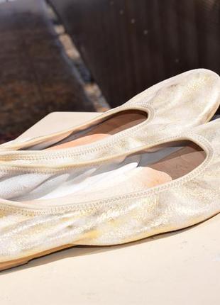 Итальянские кожаные туфли лоферы балетки р.41 26,5 см nadege