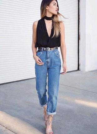 Mom jeans мом джинсы винтажные бойфренд высокая посадка талия