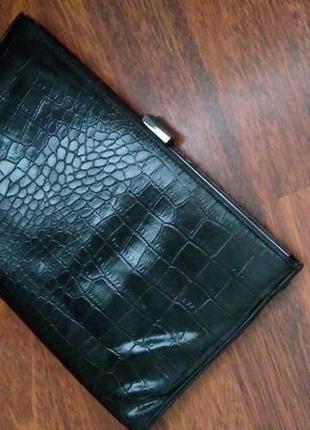 Стильный черный клатч сумочка