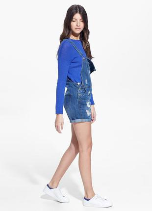 Синий свитер букле h&m