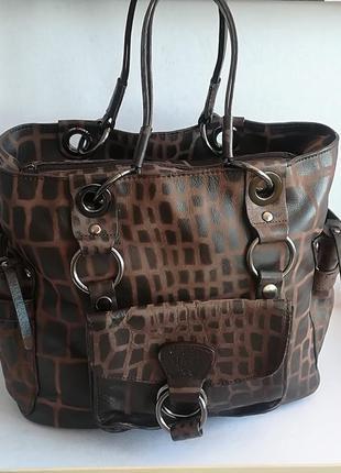 Vip!!! трендовая, очень красивая кожаная сумка!!