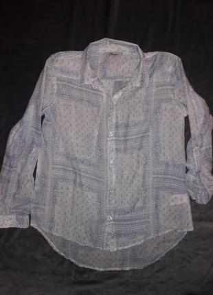 Блуза рубашка peacocks батист англия.